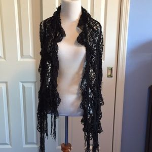 Accessories - Black Lacey scarf
